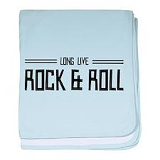 Long Live Rock & Roll baby blanket