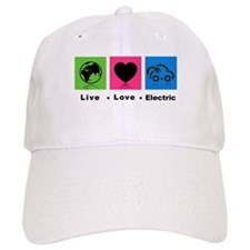 Live Love Electric Baseball Baseball Cap