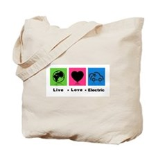 Live Love Electric Tote Bag