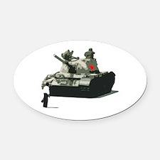Hero of Tiananmen Square Oval Car Magnet