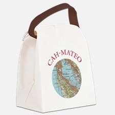 Soviet Map of San Mateo Canvas Lunch Bag