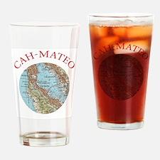 Soviet Map of San Mateo Drinking Glass