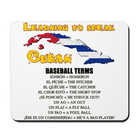 baseball terms Mousepad