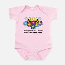 Bees & Flowers Design Illustration Infant Bodysuit
