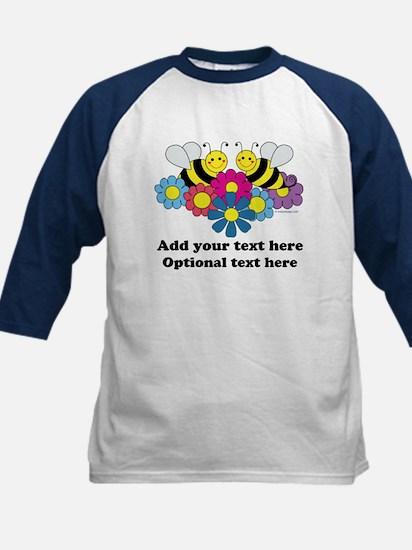 Bees & Flowers Design Illustr Kids Baseball Jersey