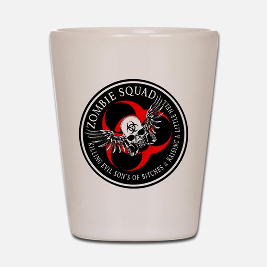Zombie Squad 3 Ring Patch Revised.png Shot Glass
