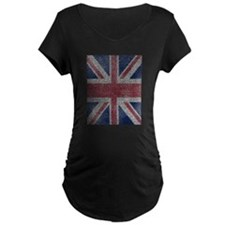 Beach Towel Union Jack Maternity T-Shirt
