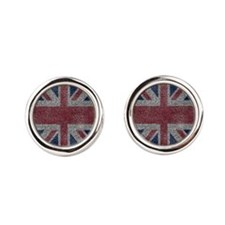 Beach Towel Union Jack Round Cufflinks