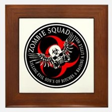 Zombie Squad 3 Ring Patch Revised.png Framed Tile