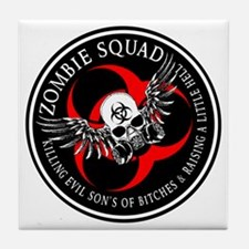 Zombie Squad 3 Ring Patch Revised.png Tile Coaster