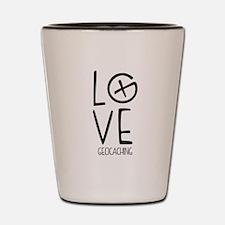 Geocaching Love Shot Glass