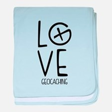 Geocaching Love baby blanket
