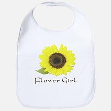 Sunflower Flower Girl Bib