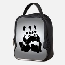 Cute Panda Neoprene Lunch Bag
