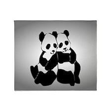 Cute Panda bears Throw Blanket