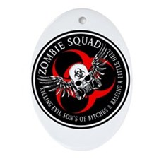 Zombie Squad 3 Ring Patch Revised.png Ornament (Ov
