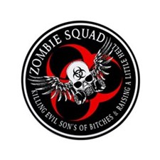 "Zombie Squad 3 Ring Patch Revised.png 3.5"" Button"