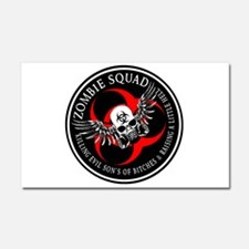 Zombie Squad 3 Ring Patch Revised.png Car Magnet 2