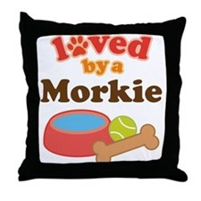 Morkie Dog Throw Pillow