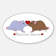 Rattie Love Oval Decal