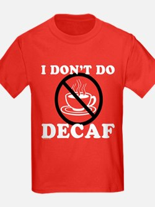 Anti Decaf Kids Red T-Shirt