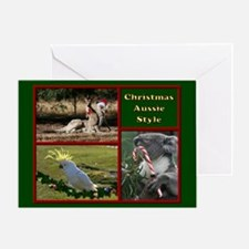 Australian Animals Merry Christmas Greeting Card