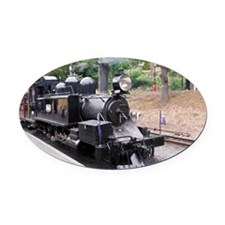 Puffing Billy Historic Steam Train Oval Car Magnet