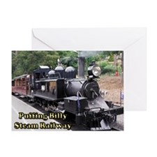 Puffing Billy Historic Steam Engine Greeting Card