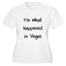 I'm what happened in Vegas Plus Size T-Shirt