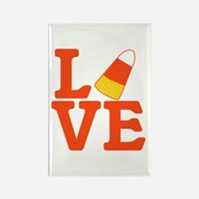 Halloween Love Candy Corn Rectangle Magnet