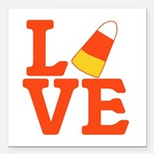 """Halloween Love Candy Cor Square Car Magnet 3"""" x 3"""""""