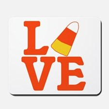 Halloween Love Candy Corn Mousepad