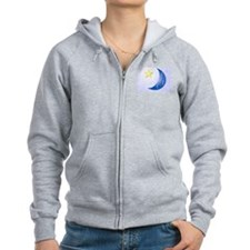 Once in a Blue Moon Zip Hoodie