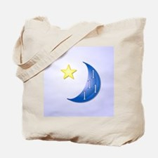 Once in a Blue Moon with Yellow Star Tote Bag
