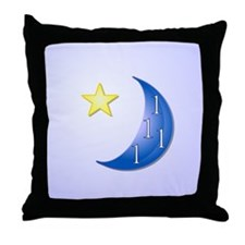 Once in a Blue Moon with Yellow Star Throw Pillow