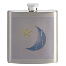 Once in a Blue Moon with Yellow Star Flask