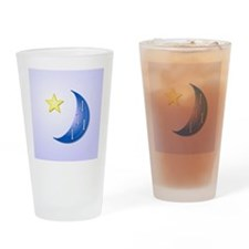 Once in a Blue Moon with Yellow Sta Drinking Glass