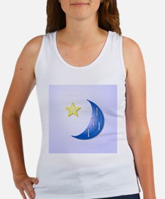 Once in a Blue Moon with Yellow S Women's Tank Top