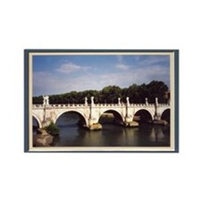 Rome Ponte Sant Angelo Bridge Rectangle Magnet
