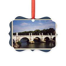 Rome Ponte Sant Angelo Bridge Picture Ornament