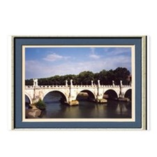 Rome Ponte Sant Angelo Br Postcards (Package of 8)
