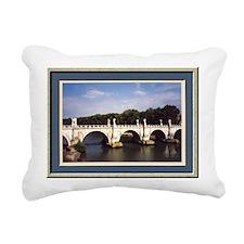 Rome Ponte Sant Angelo B Rectangular Canvas Pillow