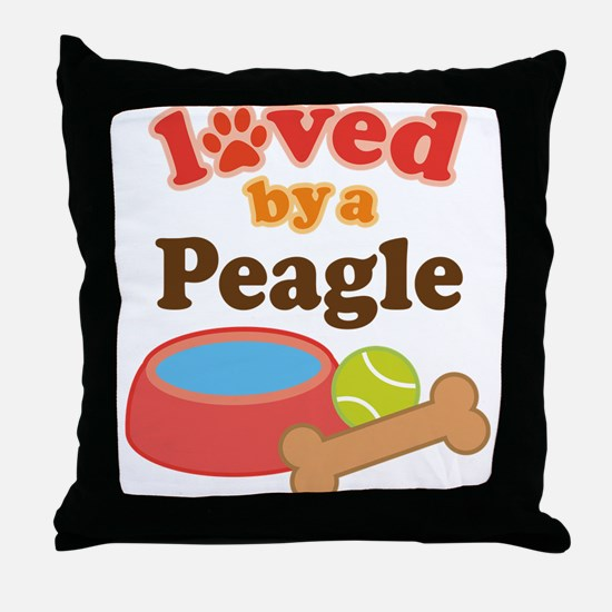 Peagle lover Throw Pillow