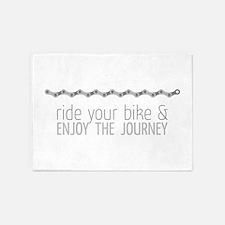 ride your bike & enjoy the journey 5'x7'Area Rug