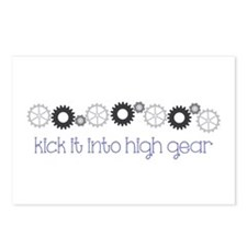 kick it into high gear Postcards (Package of 8)