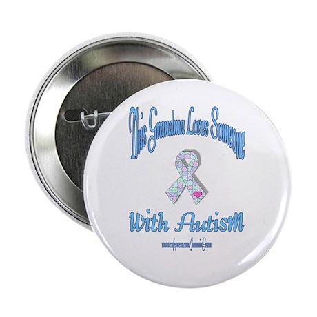 Autistic Pride Grandma Pastel Button