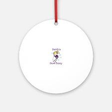 Daddys Snow Bunny Ornament (Round)