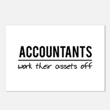 Accountants work assets off Postcards (Package of
