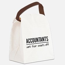 Accountants work assets off Canvas Lunch Bag