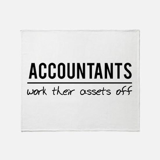 Accountants work assets off Throw Blanket